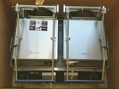 Star 9D-GR28I-230V Pro Max Two-Sided (Smooth) Sandwich Grill NEW IN CRATE!