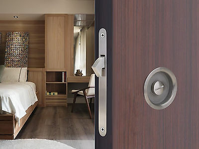 Satin Recessed Invisible Wood Barn Sliding Door Cup Stainless Steel Lock Handle