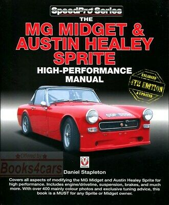 Mg Midget Sprite High Performance Manual Austin Healey Book Speedpro Racing
