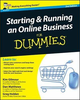 Starting and Running an Online Business For Dummies by Kim Gilmour 9781119991380