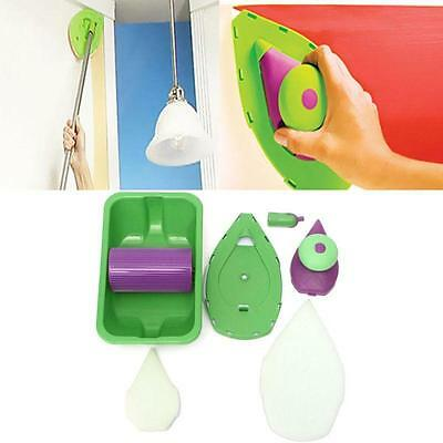 Easy Paint Pads Point Painting Roller Tray Multifunction Tool +Sponge Set Kit LG