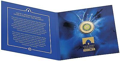 2017 $2 'C' Mintmark Coloured Uncirculated RAM Coin - Lest We Forget