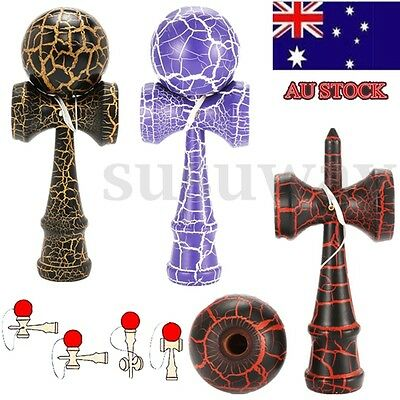 3 Colors Safety Crack Pattern Toy Kendama Wooden Educational Toys Kids Toy Hot