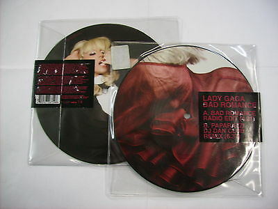 "Lady Gaga - Bad Romance - 7"" Picture Disc Vinyl 2009 Brand New Not Sealed"