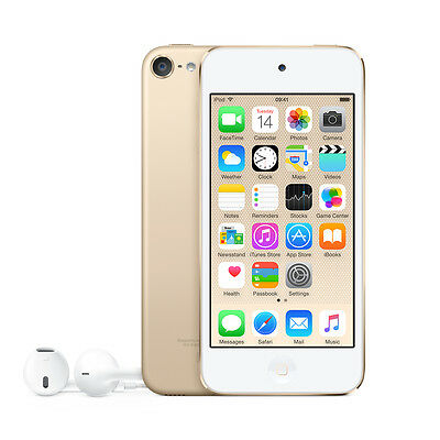 "Apple MKH02BT 4"" iPod Touch 16GB 6th Gen with Retina Display (Gold) C"