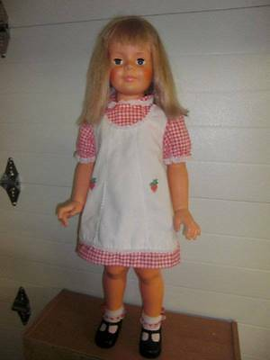 "Ideal ~ Beautiful Patti Playpal 35"" w/Soft Vinyl Arms Face, Tagged Dress"