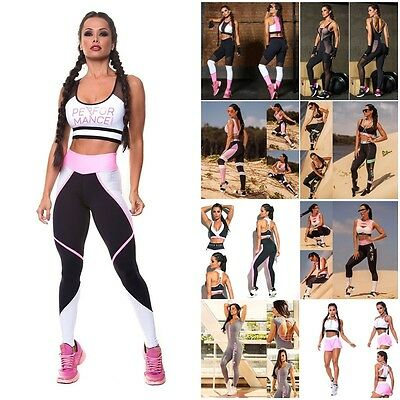 Women Sportswear Yoga Workout Tracksuit Fitness Gym Athletic Clothes Lot