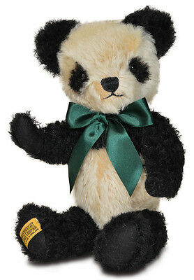 "Merrythought Antique Panda teddy bear classic mohair - 35cm / 14"" - AP14BC"