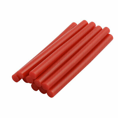 10pcs 7mm x 100mm Economy Hot Melt Glue Sticks Red for DIY Small Craft Projects
