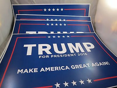 Lot Of 4 Make America Great Again Donald Trump President 2016 Rally House Signs