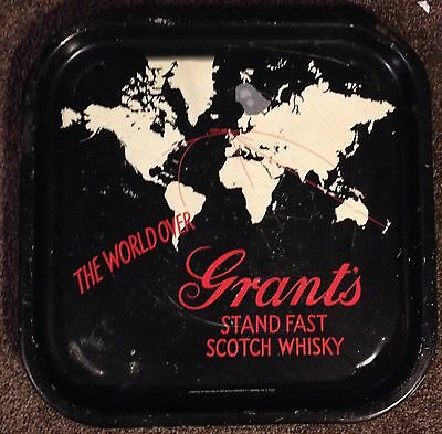 VINTAGE... GRANTS SCOTCH WHISKY Metal Tray. Good Condition