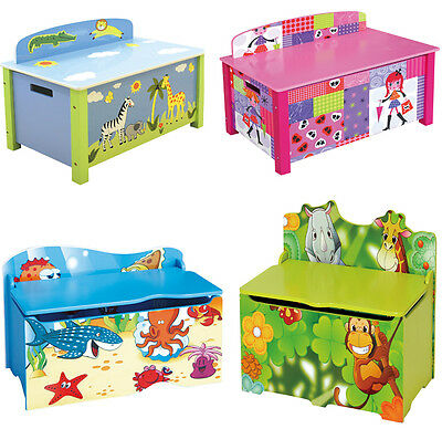 Kids Bedroom Furniture Toy Chest Storage Box Bench Seat Girls Boys Playroom Box