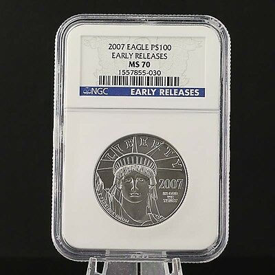 2007 Platinum American Eagle $100 Coin - .9995 Platinum Early Release MS 70 NGC