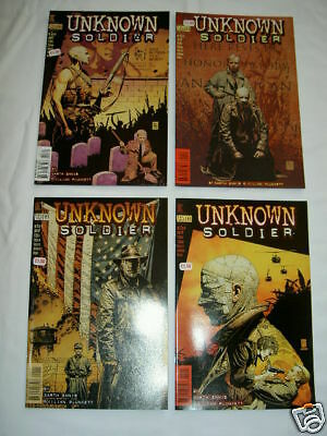 UNKNOWN SOLDIER : COMPLETE 4 issue series by ENNIS & PLUNKETT. DC VERTIGO. 1997