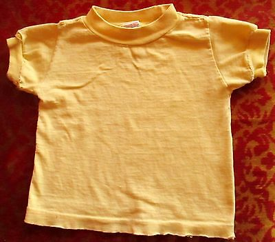 SMALL 3 True Vtg 70s Boys Girls BUSTER BROWN YELLOW RELIC COTTON T-SHIRT USA