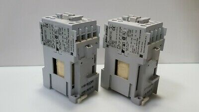 Lot of 2- AB 100-C09Z*10 Ser. A Contactor/Starter Coil: 24VCD Contact: 690V@32A