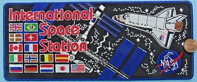 """PATCH jacket back INTERNATIONAL SPACE STATION ISS 10.5"""" x 4.5""""! Shuttle"""