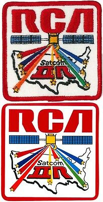 "RCA PATCH & STICKER PAIR '76 vtg SATCOM II R Satellite 3.5"" satellite space NASA"