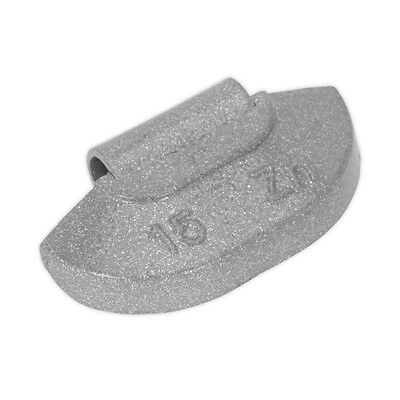 Sealey WWSH15 Wheel Weight 15g Hammer-On Zinc for Steel Wheels Pack of 100