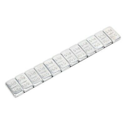 Sealey WWSA5 Wheel Weight 5g Adhesive Zinc Plated Steel Strip of 12 Pack of 100