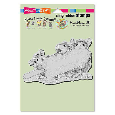 HOUSE MOUSE RUBBER STAMPS CLING ICE POP TREAT NEW cling STAMP