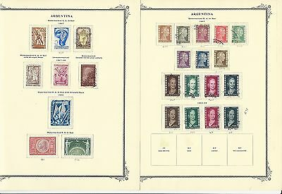 Argentina Collection 1873 to 1977 on Scott Specialty Pages, Around 100 Pages