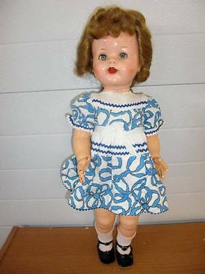 "Ideal ~ Pretty Vintage 22"" HP Saucy Walker Doll 1950's"