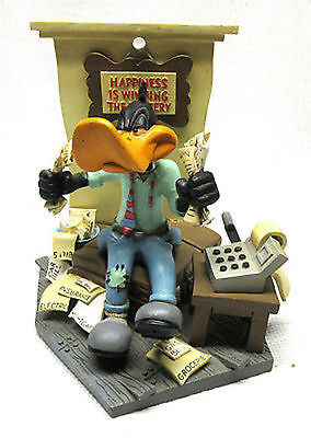 "RARE Daffy Duck Figurine ""Happiness is Winning The Lottery"" Warner Bros. 1994"