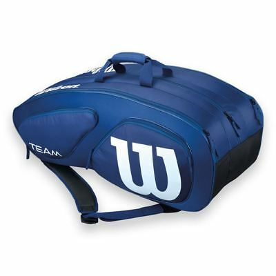 Wilson Team Collection Team II (Holds 12 Racquets) Navy Blue