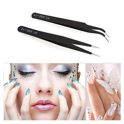 Pro Eyelash Extensions Tweezers Curved Straight Individual Eyelash Z