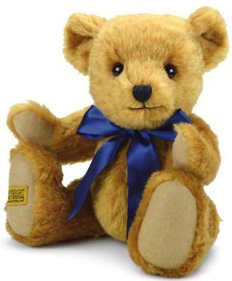 "Merrythought Oxford teddy bear classic jointed mohair - 33cm / 13"" - OX13YG"