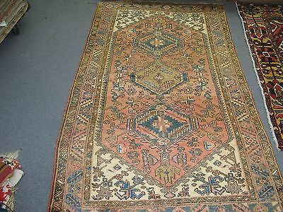 Semi-Antique Vintage Persian Heriz Hand Knotted Wool Rug 3'-8 x 6'-8