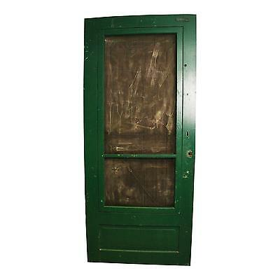 Vintage WOOD SCREEN DOOR wooden green country rustic farmhouse front patio porch
