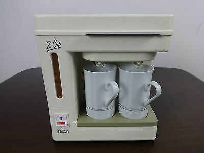 tea coffee machine vintage Salton 2 Cup teasmaid 3624 white retro look tea maker