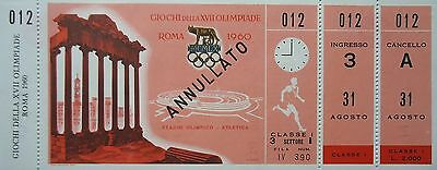 mint TICKET 31.8.1960 Olympia Rom Finals Leichtathletik Athletics