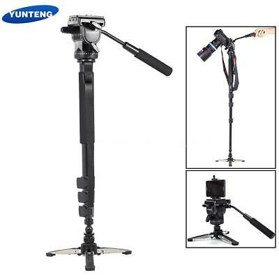 Travel Heavy Duty Video Tripod Monopod Fluid Pan Head For Camera Camcorder Q9Y6