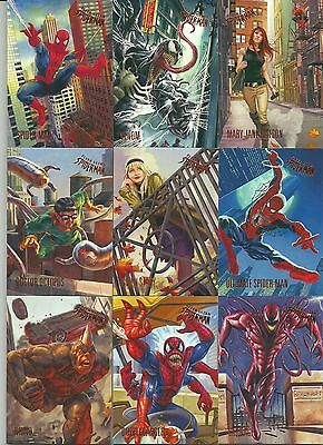 2017 Upper Deck Fleer Ultra Spider-Man 100 Card Base Set & Legacy Insert Bonus