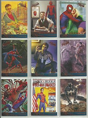 2017 Upper Deck Fleer Ultra Spider-Man - Complete 12 Card Milestones Insert Set