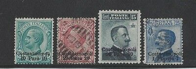 1909 Italian Post Offices in Constantinopoli SG 52/5 mint/fine used