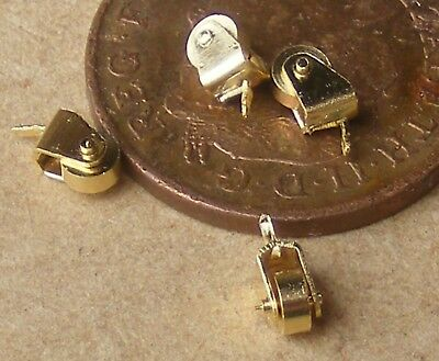 1:12 Scale 6 Working Metal Casters 0.5cm x 0.3cm Tumdee Dolls House Accessory 94