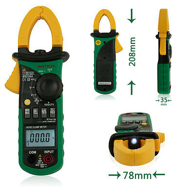 MASTECH MS2108A Digital Clamp Multimeter AC DC Voltage Current Freq Meter DMM