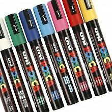 Posca PC-5M 1.8mm-2.5mm  Medium Nib Paint Marker Pen for Fabric, Metal & Glass