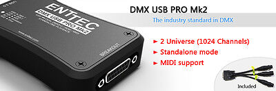 Enttec DMX USB PRO USB Mk2 Two Universe DMX Dongle & Playback