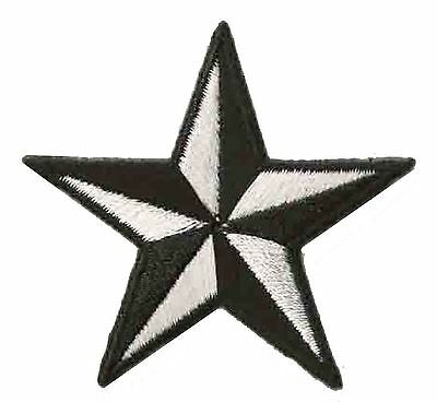 Ecusson patche étoile Noir Blanc petite star patch thermocollant