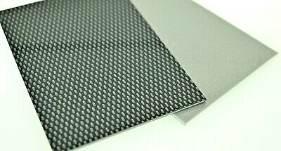 3mm Black Carbon Fibre Effect ABS Sheet A4 & A3 Model Car Trim Plastic Vac Form