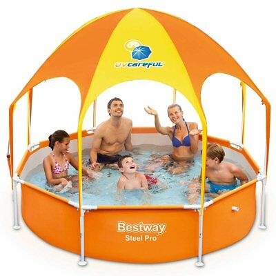Bestway Splash-in-Shade Play Pool Schwimmbecken Planschbecken Kinder 1688L 56432