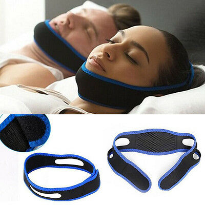 Snore Stop Belt Snoring Cpap Chin Strap Anti Sleep Apnea Jaw Solution Utility