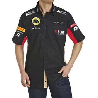 SHIRT Adult Formula One 1 Lotus F1 Team NEW! Raceshirt Burn Black 2013
