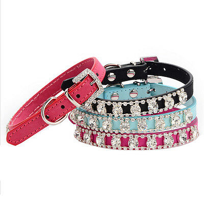 Cat Collar Diamante crystal rhinestone kitten safety Bling diamonte