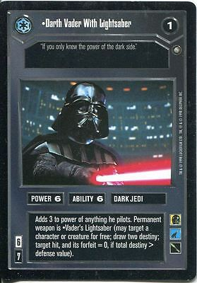 Star Wars CCG Enhanced Premiere Darth Vader With Lightsaber